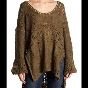 NWT free people flower child chunky tunic sweater